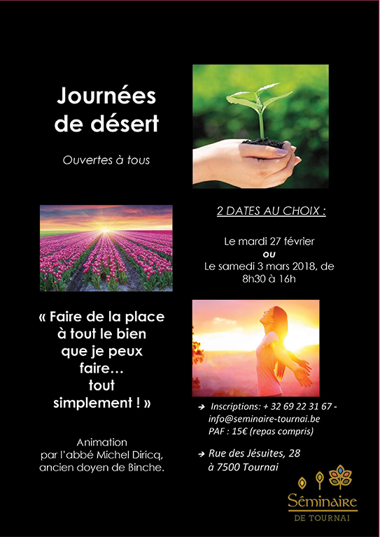 web Journees de desert seminaire Tournai careme 2018